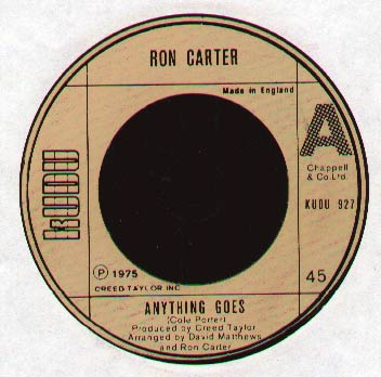 Ron Carter - Anything Goes EP
