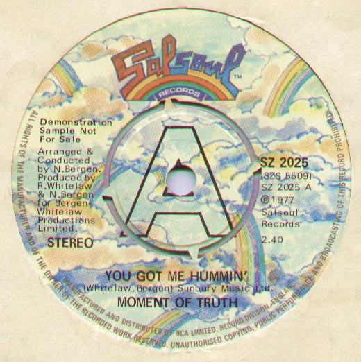 Moment of Truth - You Got Me Hummin' (demo)